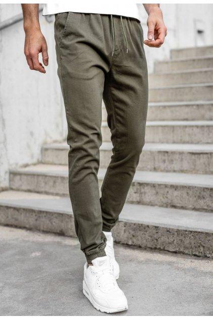 Khaki pánske nohavice