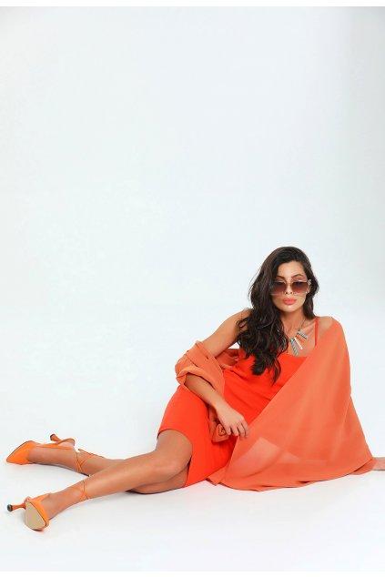 Oranžové dámske šaty