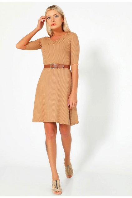 Béžové dámske šaty