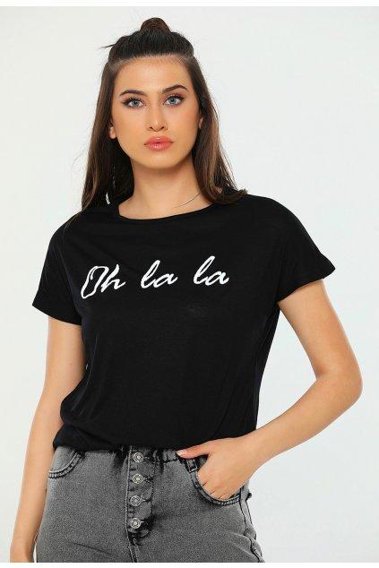 Čierne dámske tričko