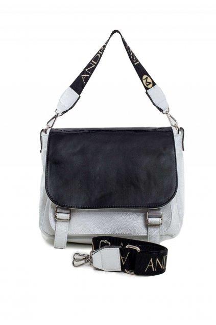 Bielo - čierna dámska kabelka