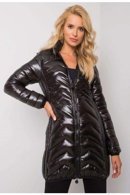 Čierna dámska prechodná bunda