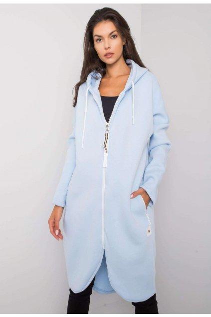 Modrá dámska mikina s kapucňou