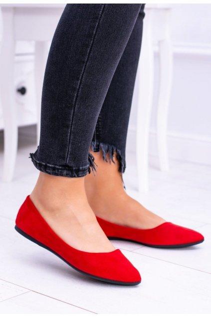 Červené dámske balerínky