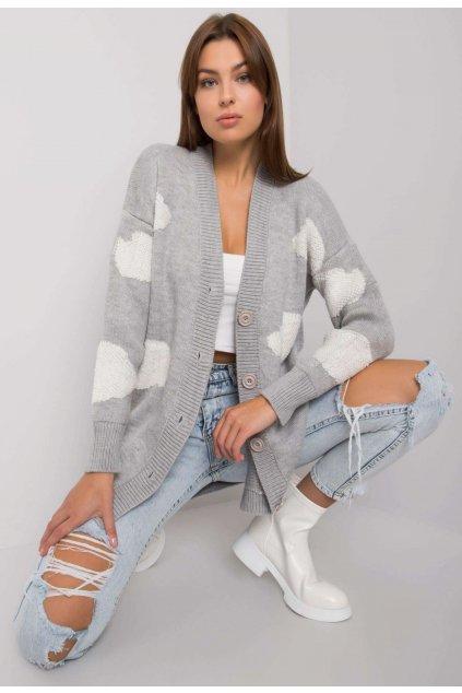 Šedý dámsky sveter