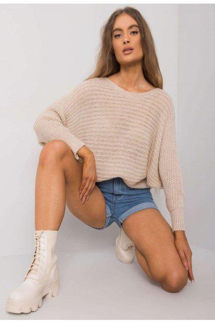 Béžový dámsky sveter