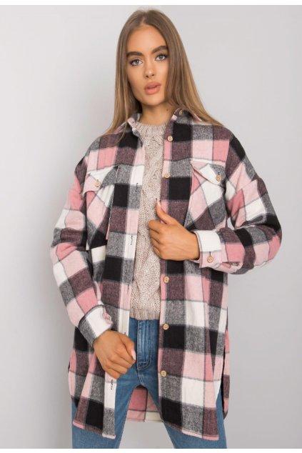 Čierno - ružová dámska košeľa
