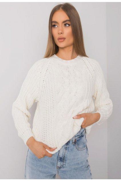 Ecrový dámsky sveter