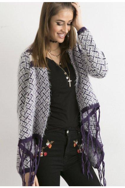 Fialový dámsky sveter