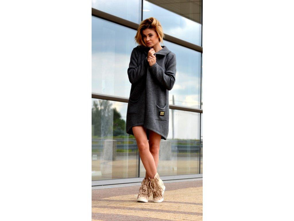 Mega pletený svetr kabát s kapuci TOP TREND HEVEN - fashionweek-moda.cz 87e8862bf4