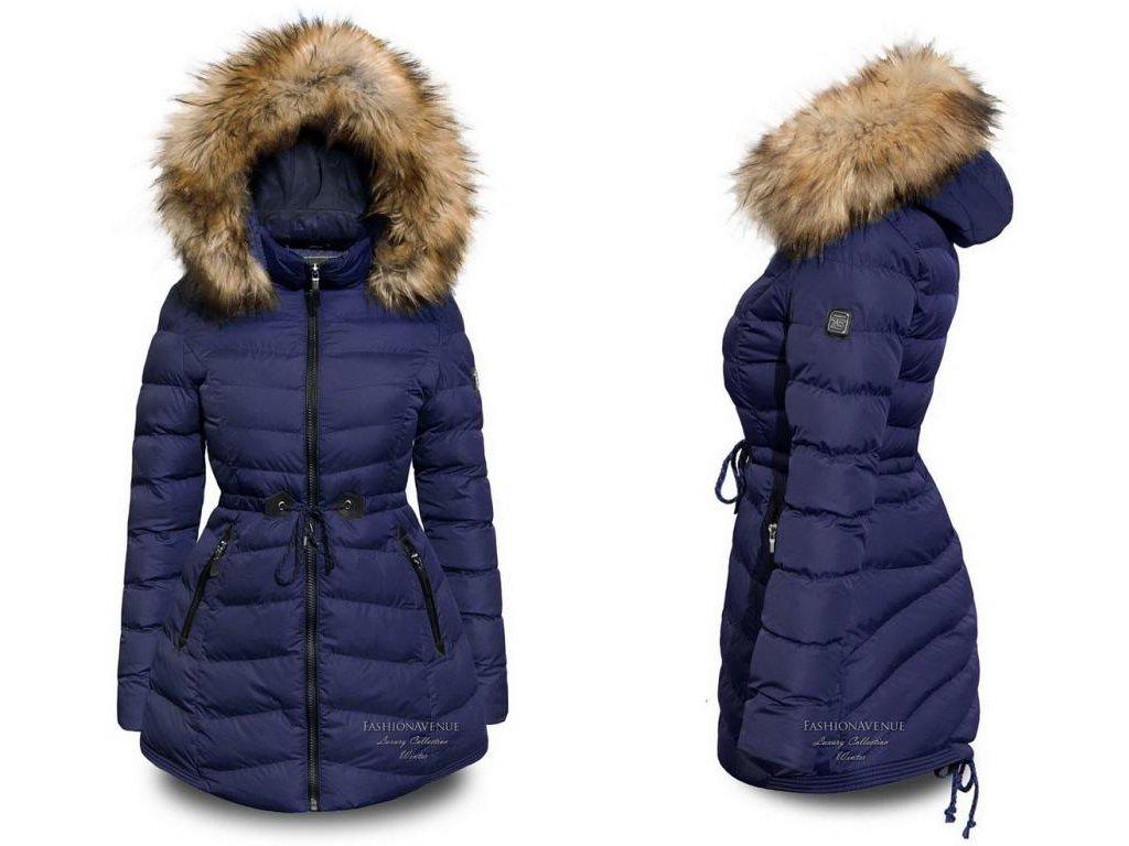 2d3c15387bb5 Zimni Dámská luxusní péřová bunda asymetric F109 - fashionweek-moda.cz