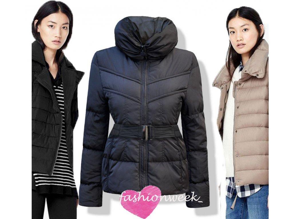 Exkluzivní dámská zimní bunda s vysokým límcem F59 - fashionweek-moda.cz 5766b76f4a6