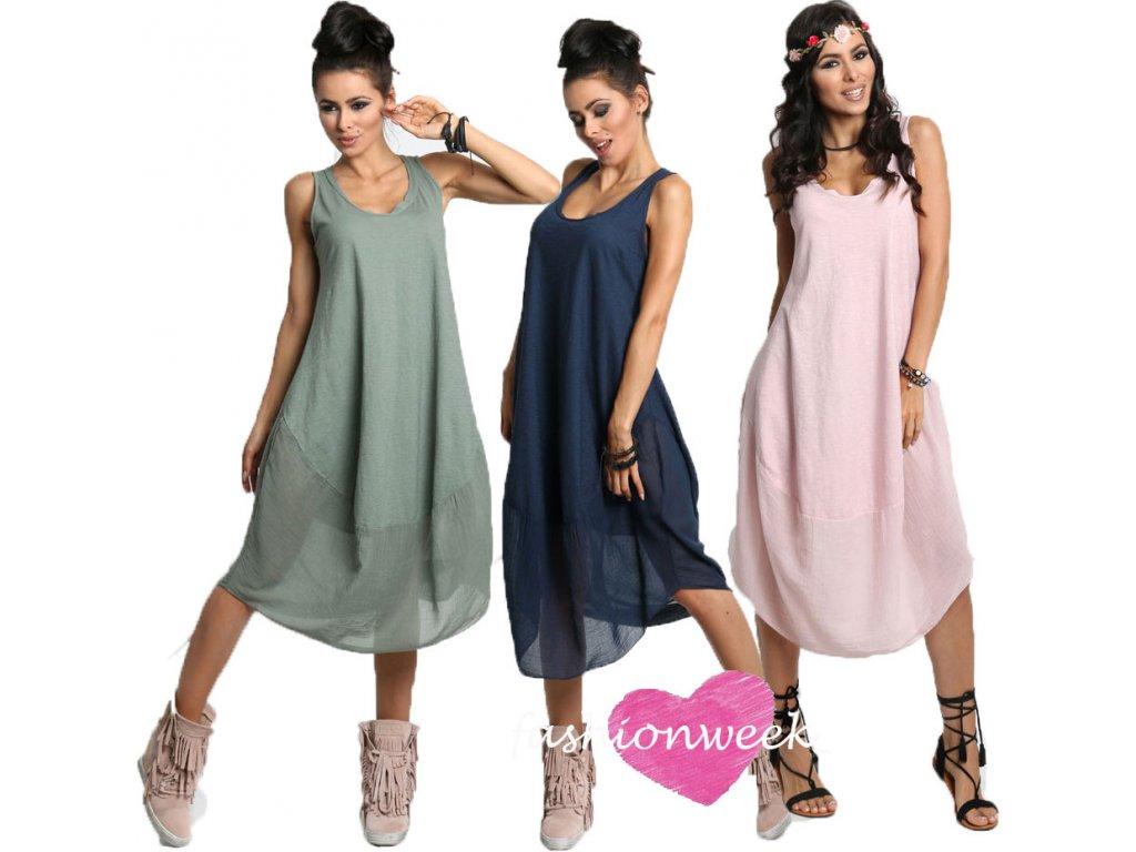 c8a3656bba1 Nádherné módní letní bavlněné šaty BOHO ITALY A607 - fashionweek-moda.cz
