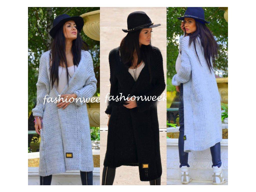 Luxusní neobvyklý pletený kabát Maxi - fashionweek-moda.cz 02f7d244f7