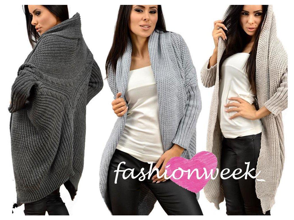 Teplý pletený kabát s nadčasovým vzorem Anja - fashionweek-moda.cz 277bdb5794
