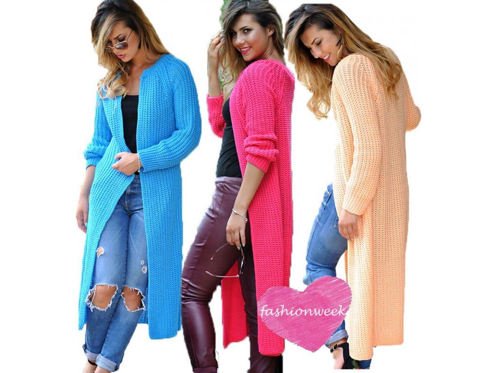 Luxusní neobvyklé pletené dlouhé svetry kabáty MAXI SV06 ROYAL -  fashionweek-moda.cz 5bd7699f89