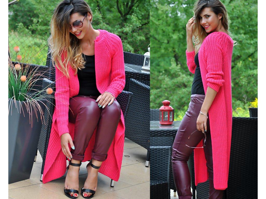 Luxusní neobvyklé pletené dlouhé svetry kabáty MAXI SV06 ROYAL ... 1715927204