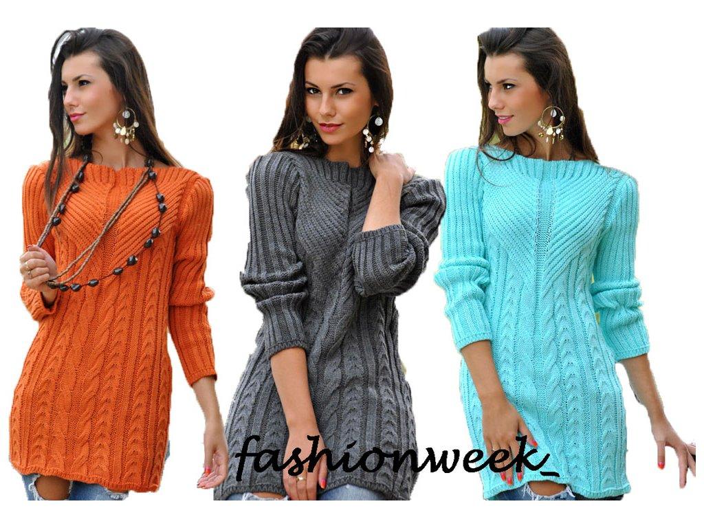 Tlustý zimní pletený svetr f56243da43