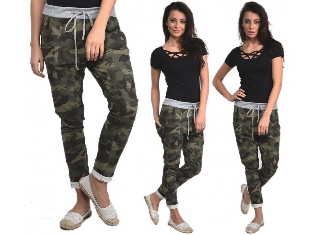 85b750685056 Dámské maskáčové teplákové kalhoty ARMY ZIZI04 - fashionweek-moda.cz