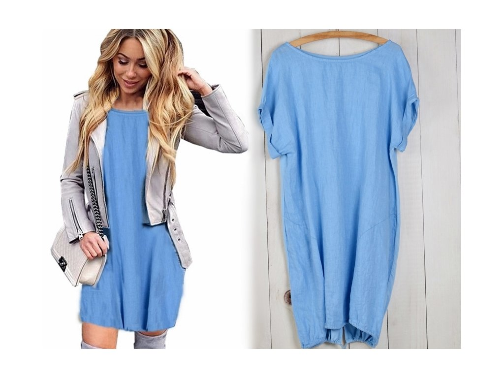 42c74a30fb3 Nádherné módní letní lněné-bavlněné šaty BOHO ITALY OVERSIZE MD9 785 ...