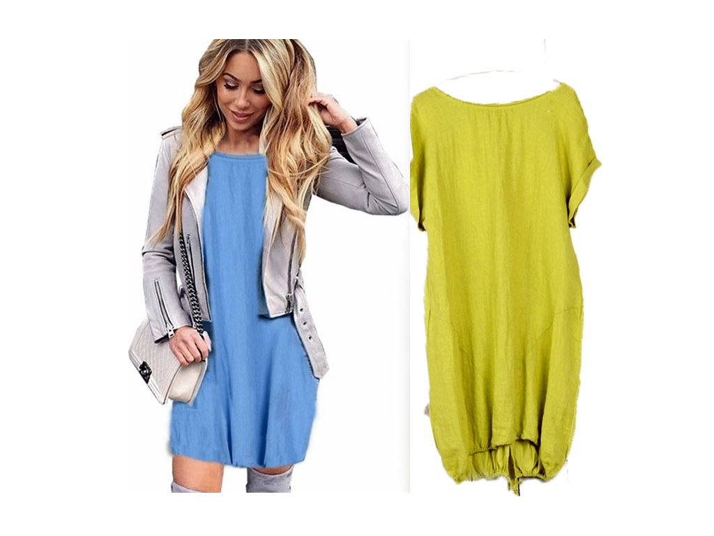 Nádherné módní letní lněné-bavlněné šaty BOHO ITALY OVERSIZE MD9 785 -  fashionweek-moda.cz 4cb9f6294a