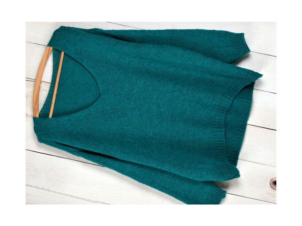 4a2d3bab77f Báječný pleteny luxusní svetr dámský V-neck ALPAKA MD12 W28 ...