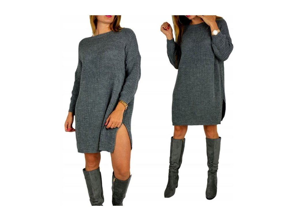 f16935cabeb Pohodlné pletené šaty