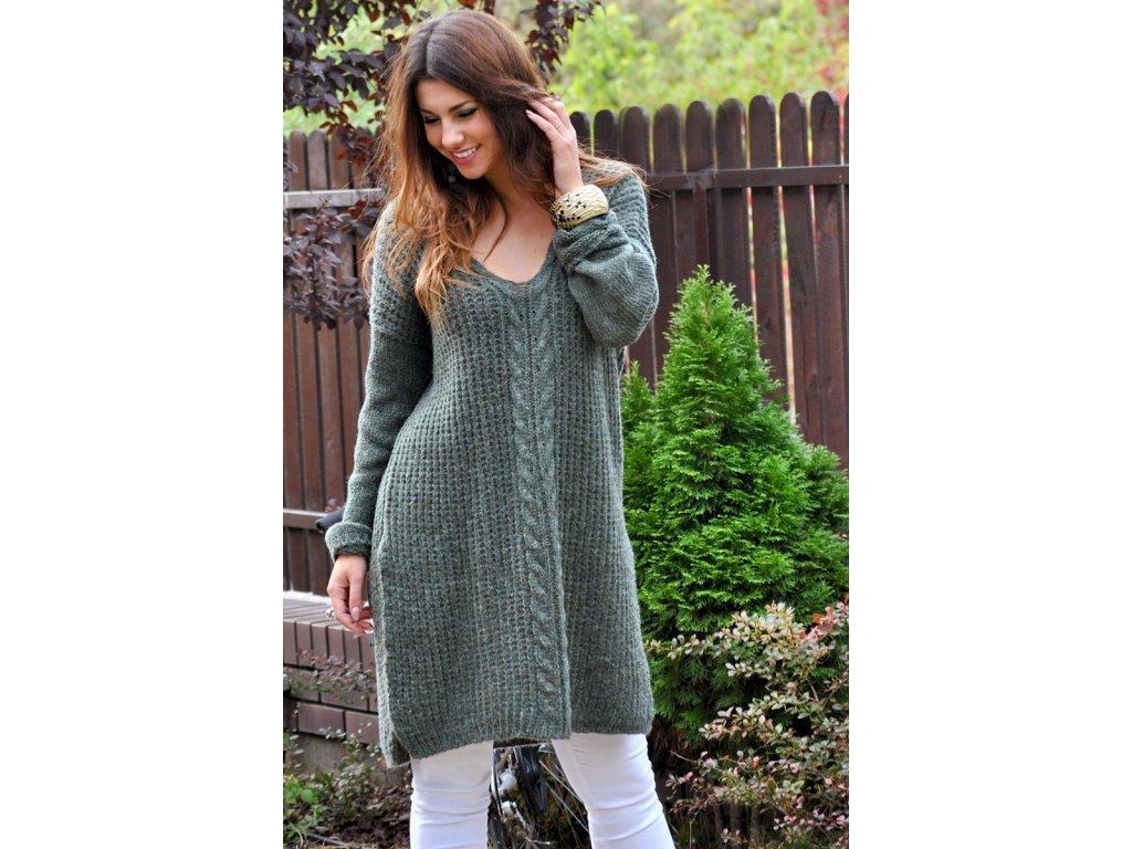Svetrové šaty midi pro chladné dny JK24 ABIGAIL - fashionweek-moda.cz 6820ba1e29