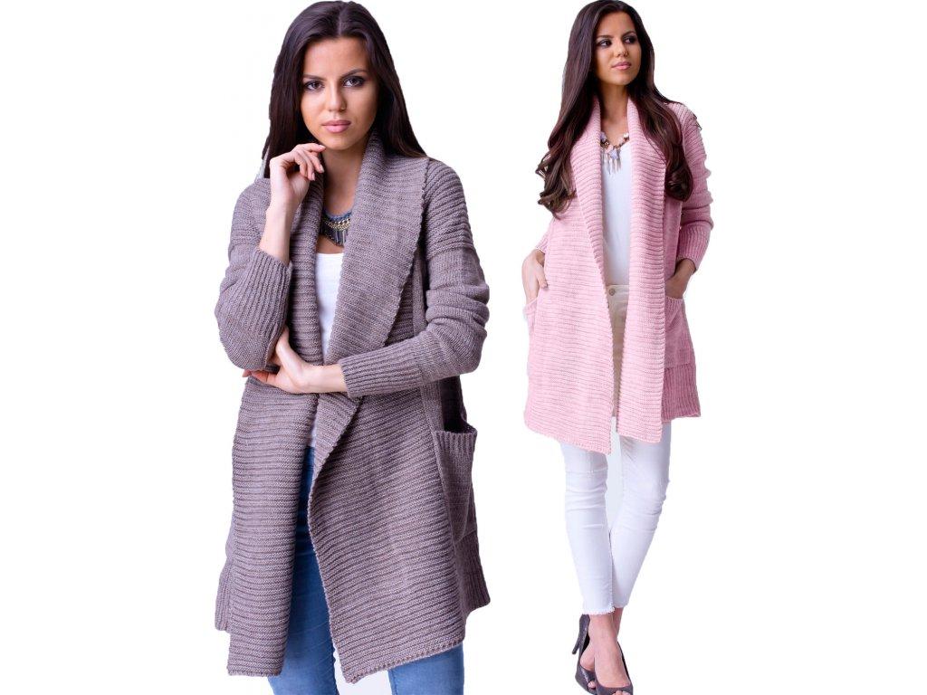 Pletený cardigan s límečkem MENA - fashionweek-moda.cz 3a7d1dd6e5