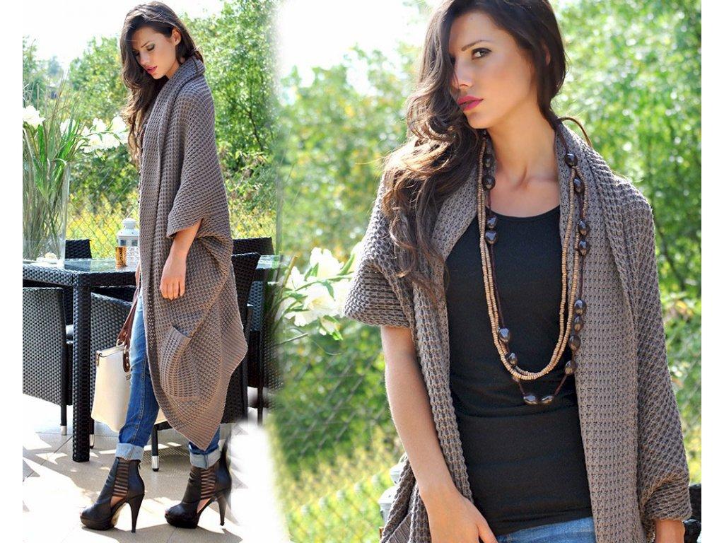 Luxusní pletené svetry LONG JK28 KIKI - fashionweek-moda.cz 88e7c3eb2b