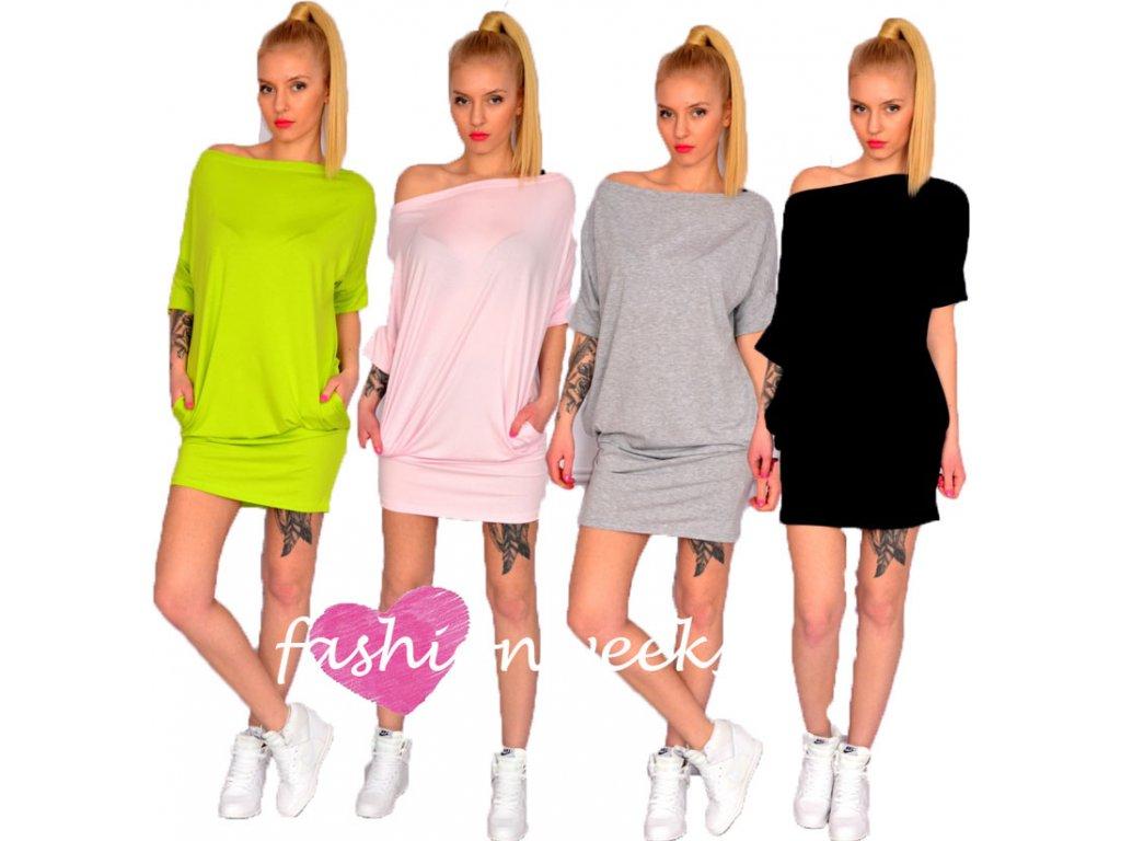 Sportovní pouzdrove šaty s kapsami 1606 - fashionweek-moda.cz 0c55f8c810
