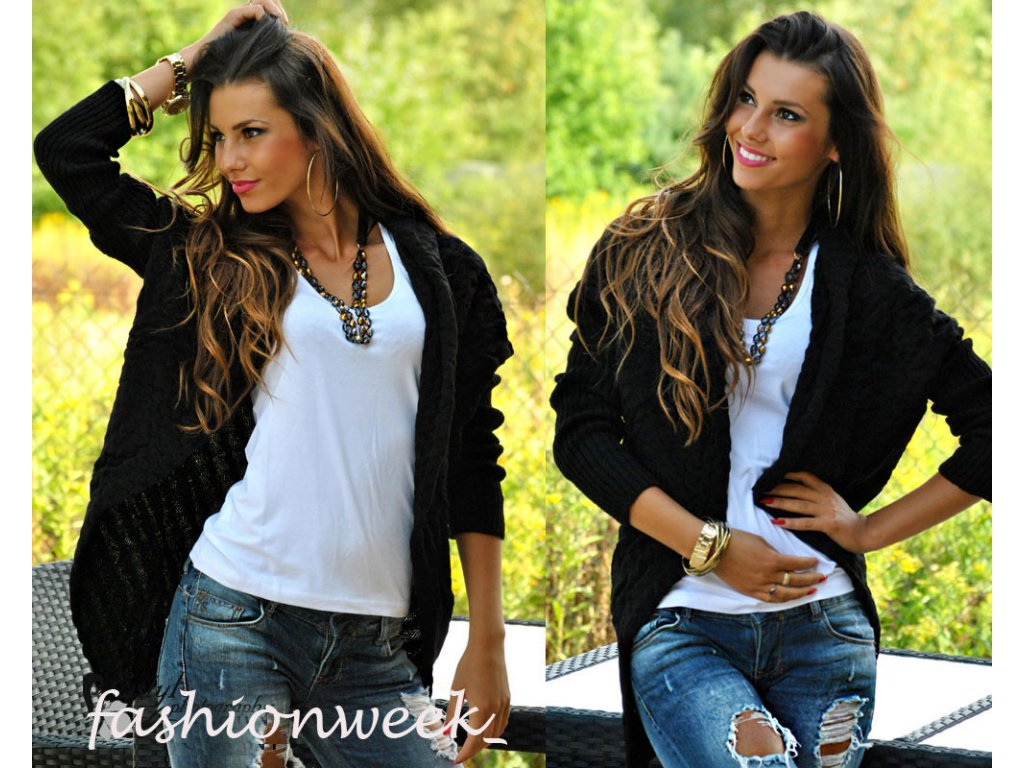 a99a9b28e0a Super módní blazer cardigan Mona - fashionweek-moda.cz