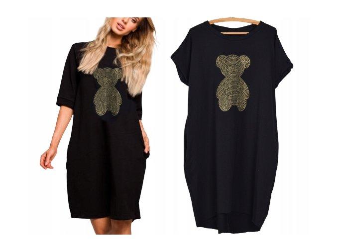 Pohodlné Italské teplákové šaty Bear MD480 L/XL