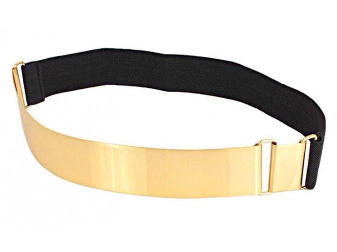 Dámský pásek se zlatou přezkou mirror belt