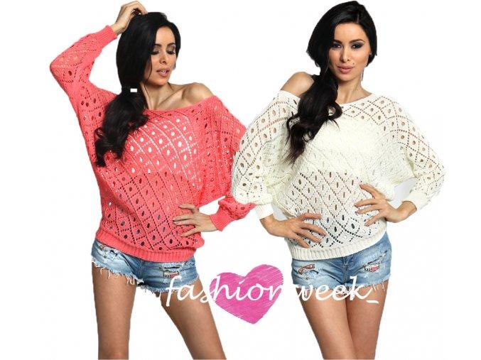Fenomenální háčkovaný svetr + top
