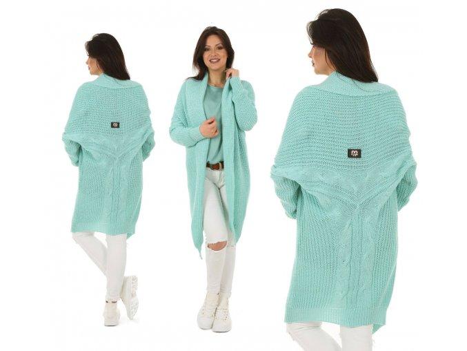 Teplý svetr,cardigan velmi originální střih MD68/K9