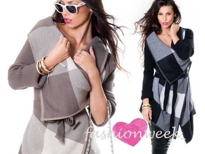 Luxusní Pletený jemný cardigan kabát Anita