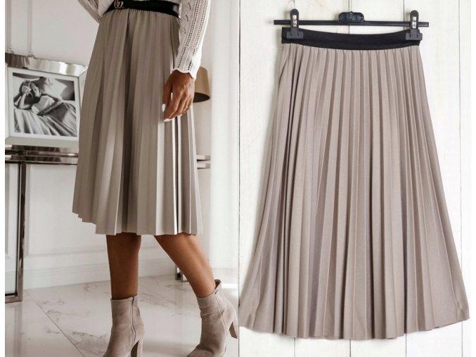 Dámská skládaná plisovaná sukně MD778