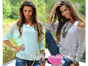 Háčkovaný svetr Fashion lux +top Leticia
