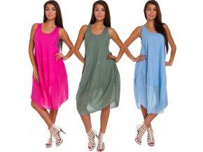 Nádherné módní letní bavlněné  šaty BOHO ITALY TC665