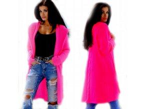 Pletený svetr cardigan s kapucí NEON SV044/3681