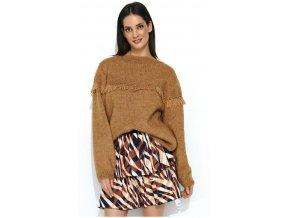 Dámsky pohodlný pletený sveter boho ADELE