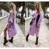 Dámský dlouhý svetr pletený kabát MIA