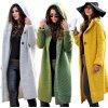 Dámský Unikátní pletený kabát s kapuci  HONEY PASTEL