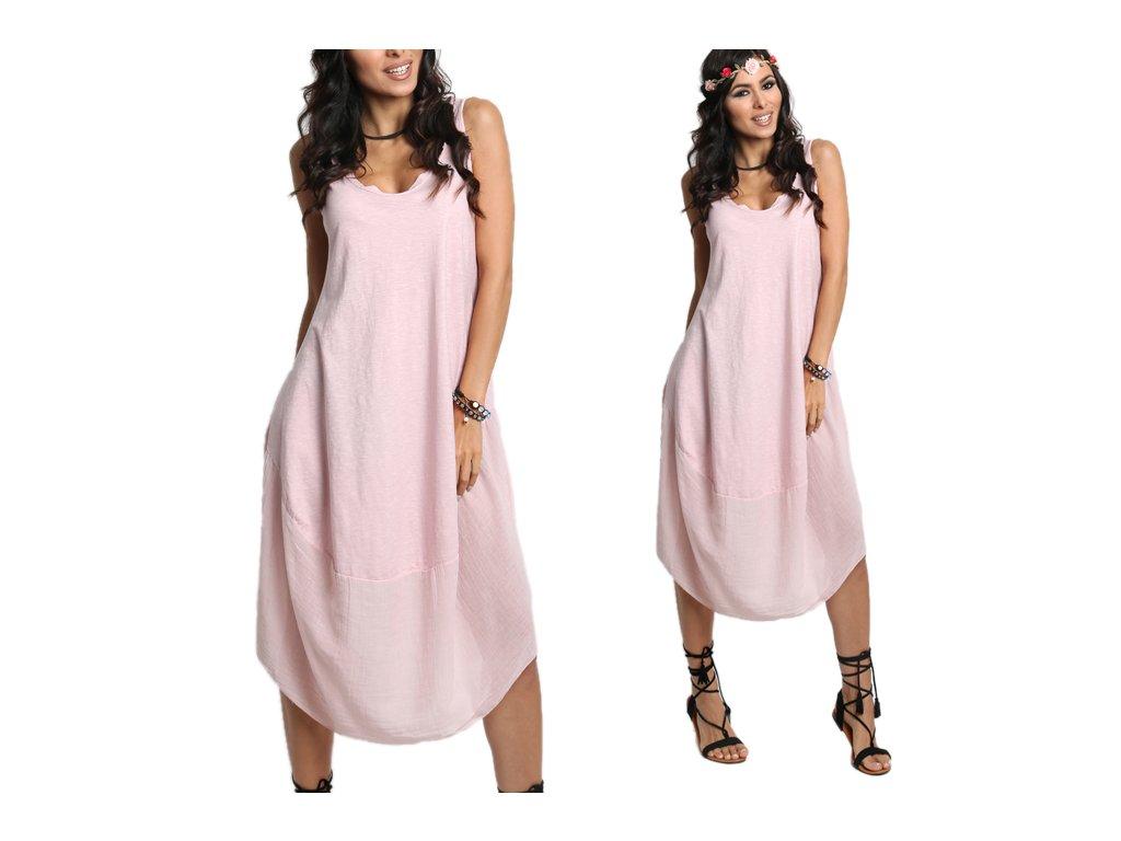 8866eba8b96 Nádherné módne letné bavlnené šaty BOHO ITALY A607 - fashionweek-moda.sk