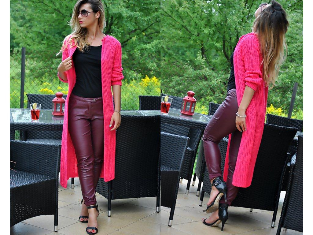 Luxusné nezvyčajné pletené dlhé svetre kabáty MAXI SV06 ROYAL ... fbf4ee50c85