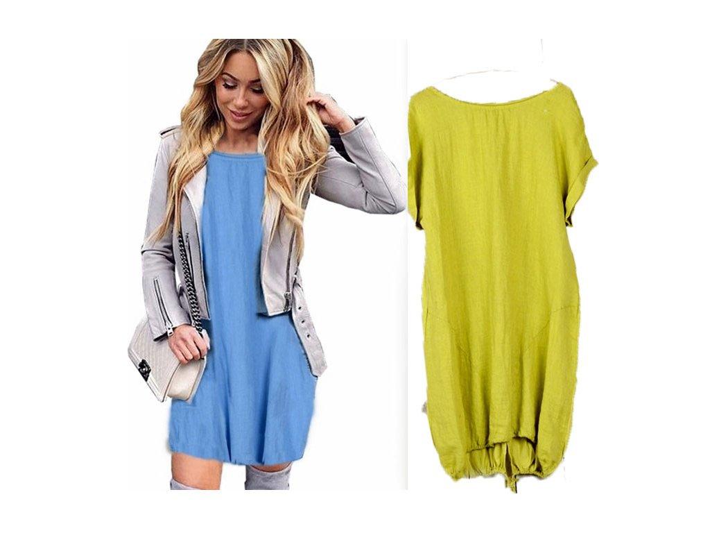 495f8fd08442 Nádherné módne letné ľanové-bavlnené šaty BOHO ITALY OVERSIZE MD9 ...