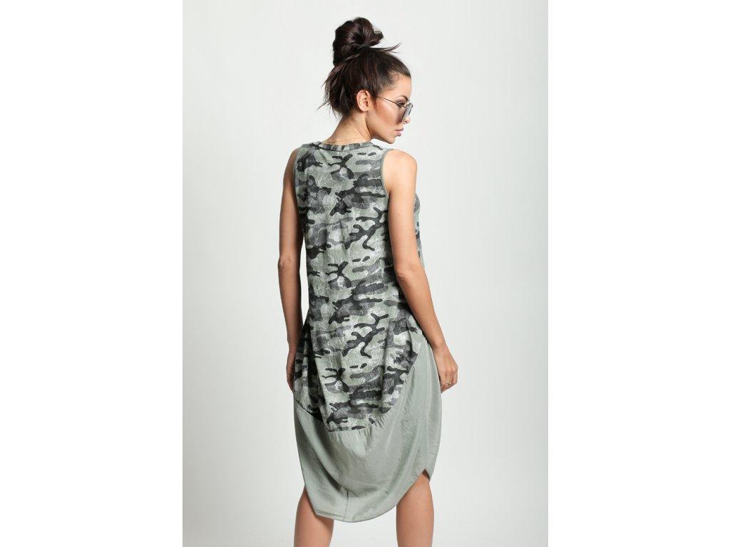 7097b0f6818c Nádherné módne letné bavlnené šaty MORO KHAKI BOHO ITALY NC4 ...