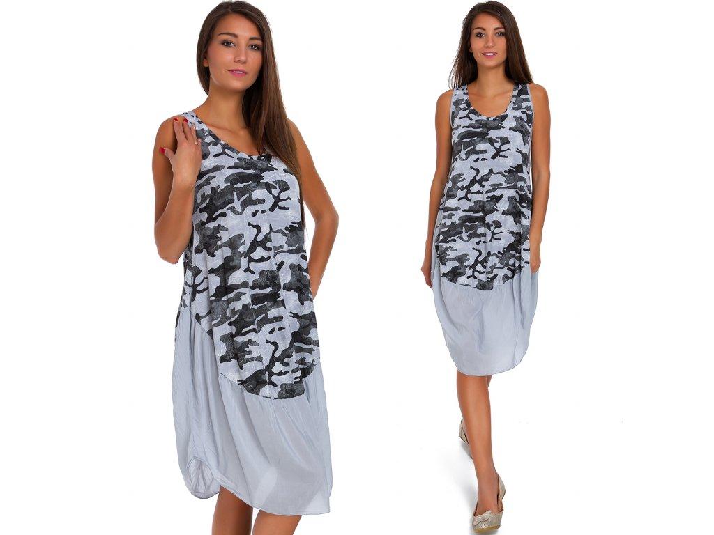b71c1db0c577 Nádherné módne letné bavlnené šaty MORO KHAKI BOHO ITALY TC663 ...