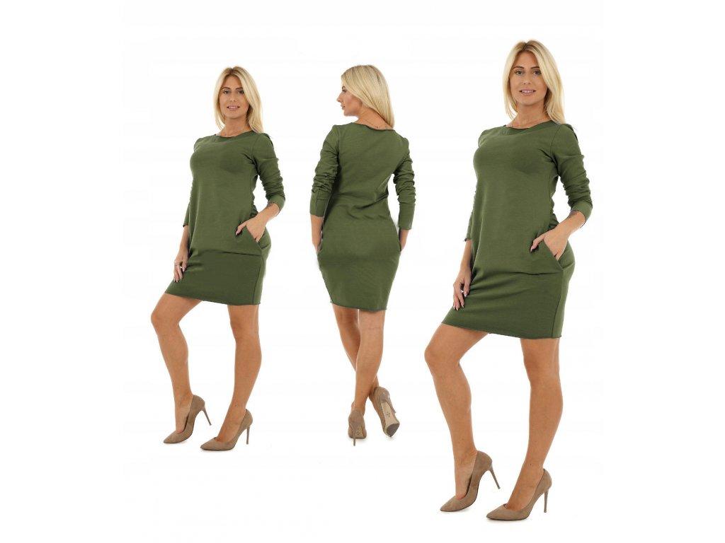 9052b8412978 Pohodlné teplákové šaty s vreckami MF26 M493 - fashionweek-moda.sk